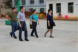教育厅领导视察我校新校区的建设情况